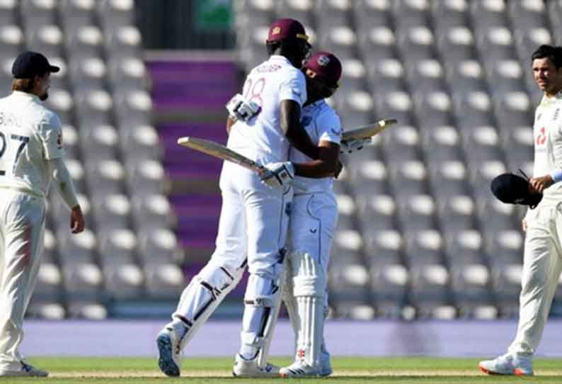 West Indies Beat England By 4 Wickets In Historic Test Match Lead 1 0 In Series In 2020 Match Cricket News West Indies