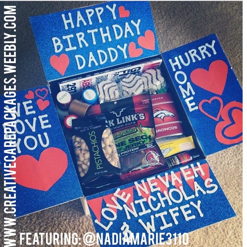 CreativeCarePackages- Birthday Theme {military Care