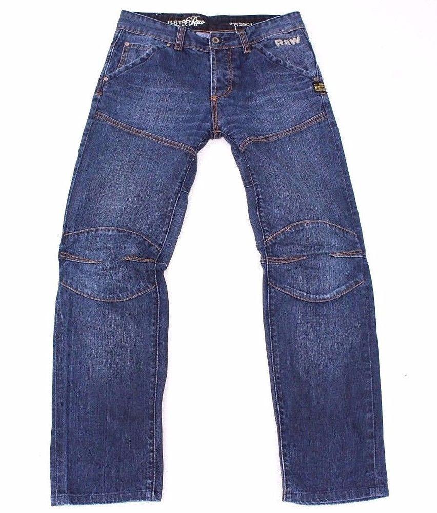 Blue Denim G STAR RAW R3301 Button Fly Faded Men's