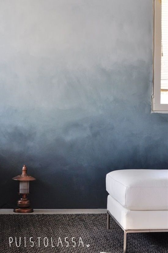 Painted Ombre Wall Ombre Wall Wall Colors White Walls