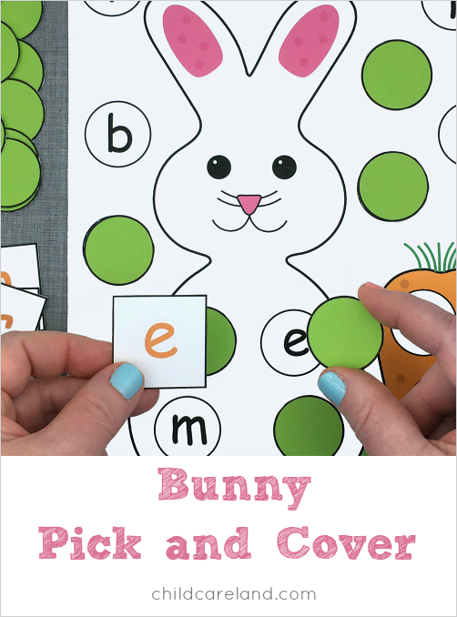 Bunny Pick And Cover For Letter Recognition And Fine Motor Skills