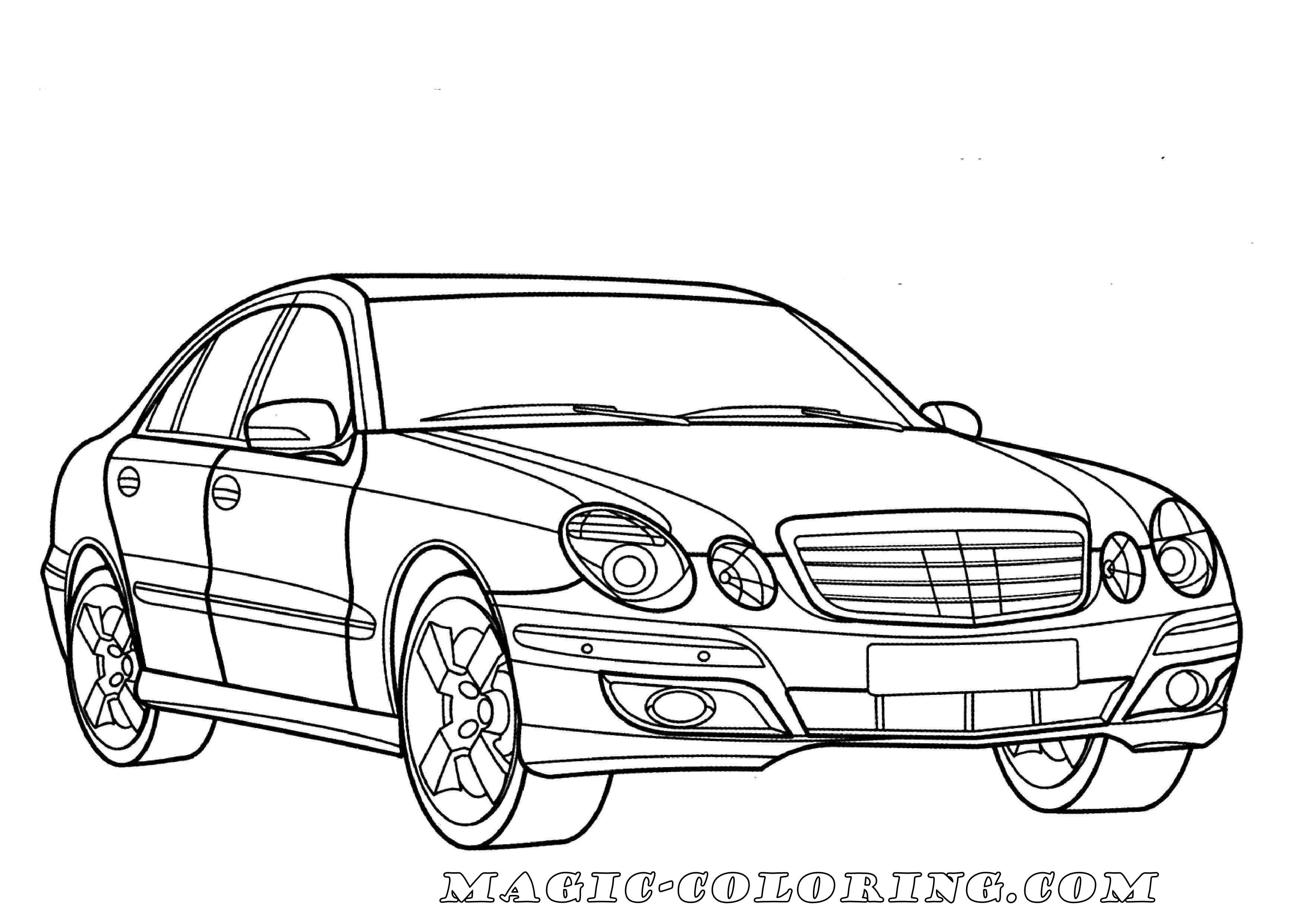Mercedes E Class Coloring Page Truck Coloring Pages Cars Coloring Pages Coloring Pictures