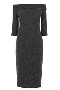 Lurex Bardot Dress