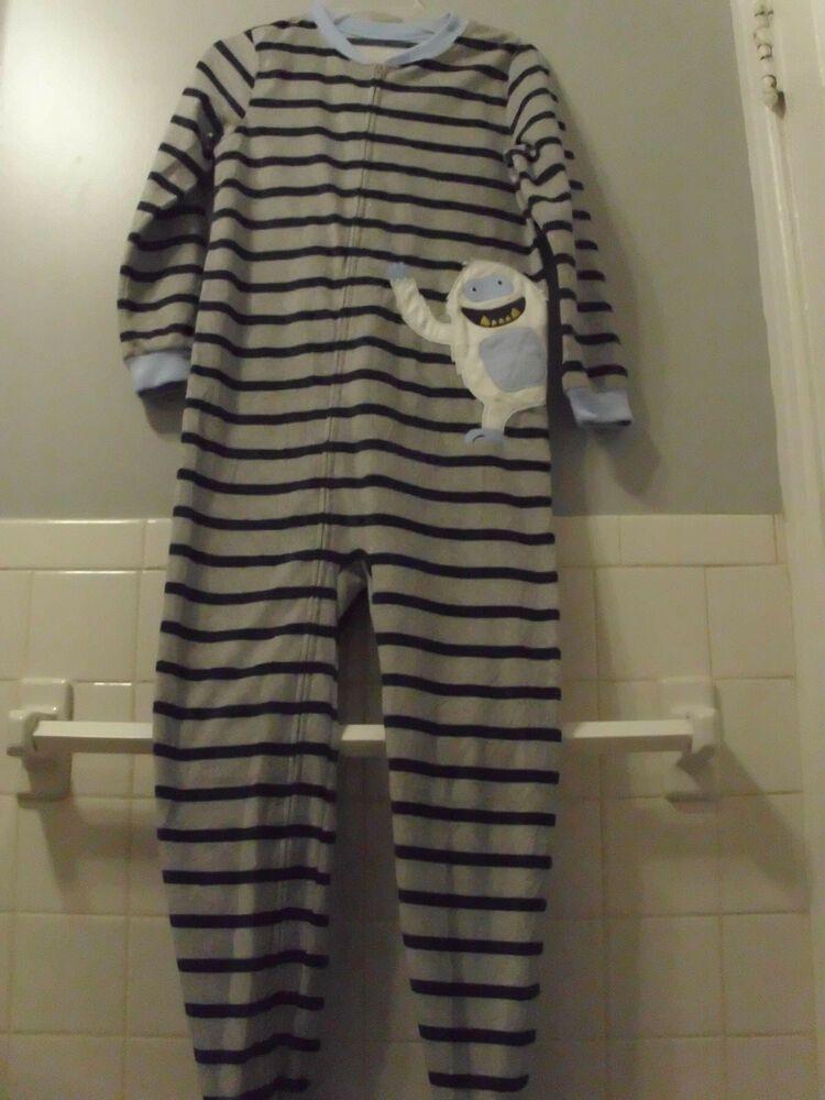414c6cd09 Boy s Carter s Abominable Snowman One Piece Footsie Fleece Pajamas ...
