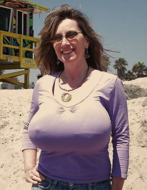 Tight shirt tits mature