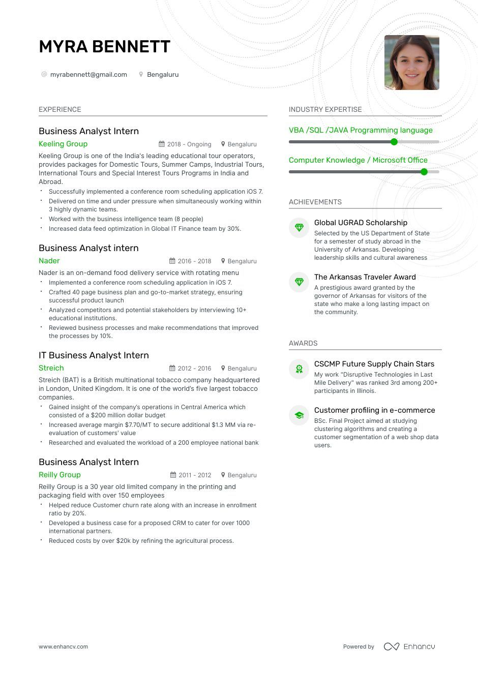 The ultimate 2019 guide for Business Analyst Intern resume