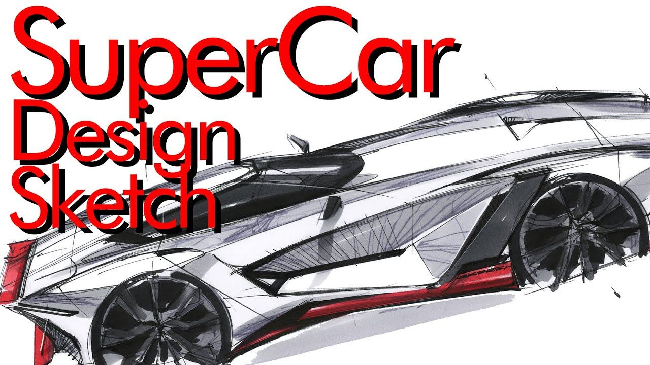 How To Sketch A Car Super Car Tip Up View In 2020 Super Cars Supercar Design Car