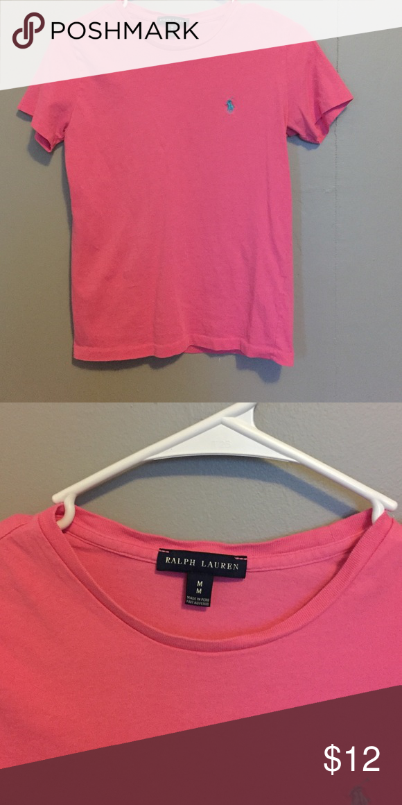 Polo pink t shirt Worn a couple times. Size medium but fits like a small Polo by Ralph Lauren Tops Tees - Short Sleeve