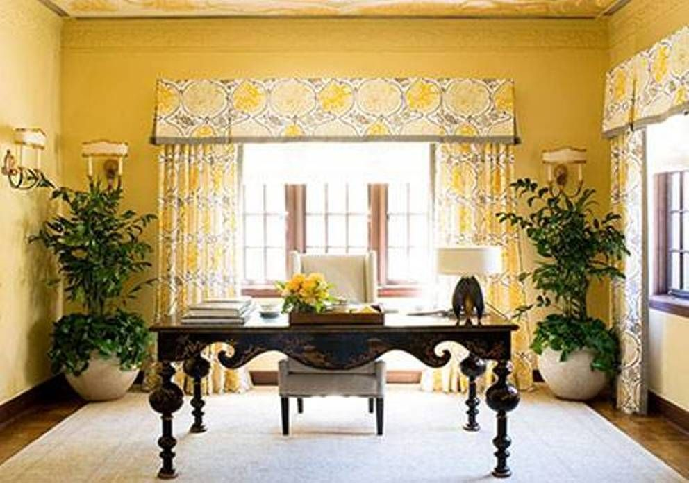 Home Design and Decor , House Gold Interior Ideas : Home Office With ...