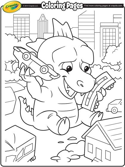 Giant Lizard Coloring Page Projects To Try Pinterest Coloring