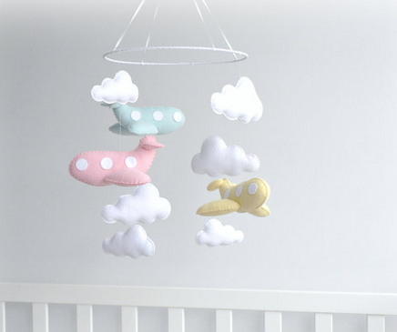 mobile avions nuages diy felt feltro pinterest b b diy mobile pour b b et pour b b. Black Bedroom Furniture Sets. Home Design Ideas