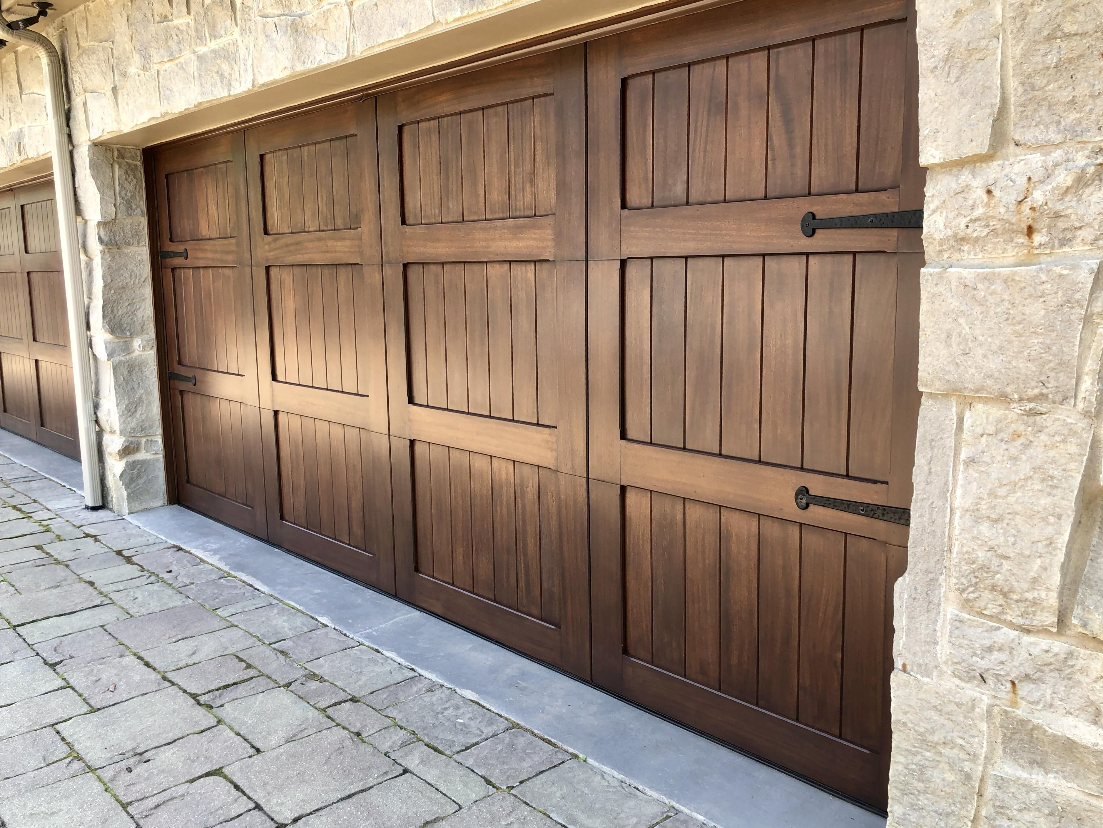 These Mahogany Garage Doors I Refinished Https Ift Tt 2kbfqap Woodworking Plans Wood Projects Garage Doors Refinished