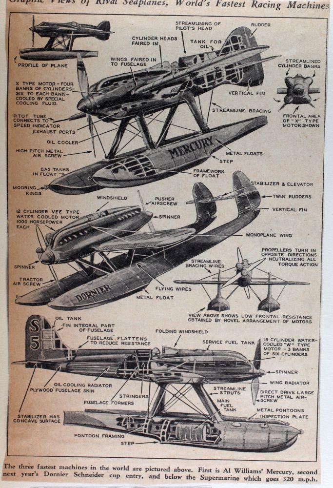 V.7 Macchi M.16 Aircraft 3-View Drawings by Velivoli