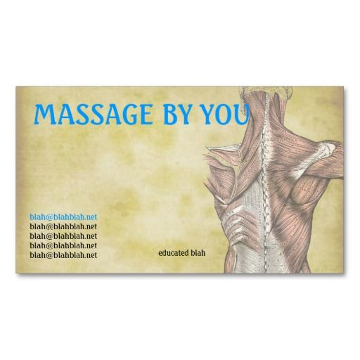 Massage therapist business card template design pinterest card massage therapist business card template fbccfo Images