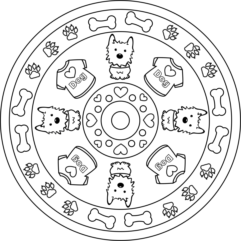 Mandala Westie | Coloring pages, Mandala, Westies