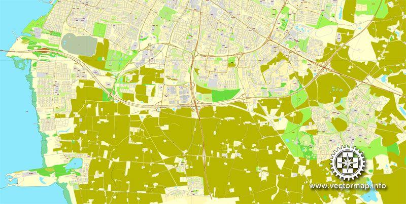 PDF Map Malmo Malmö Sweden Printable Vector Street Map Exact - Sweden map pdf