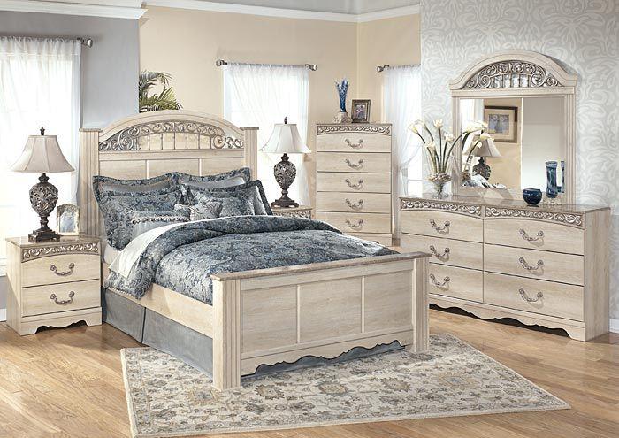 Adora Home Catalina Queen Poster Bed, Dresser, Mirror & Night Stand