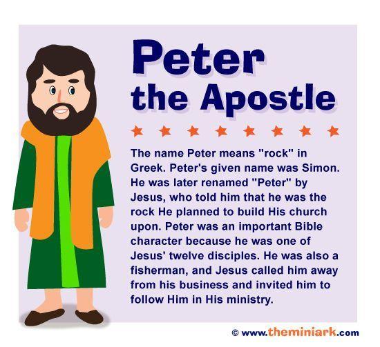 Simon Peter The Apostle Bible Character Kids Sunday School