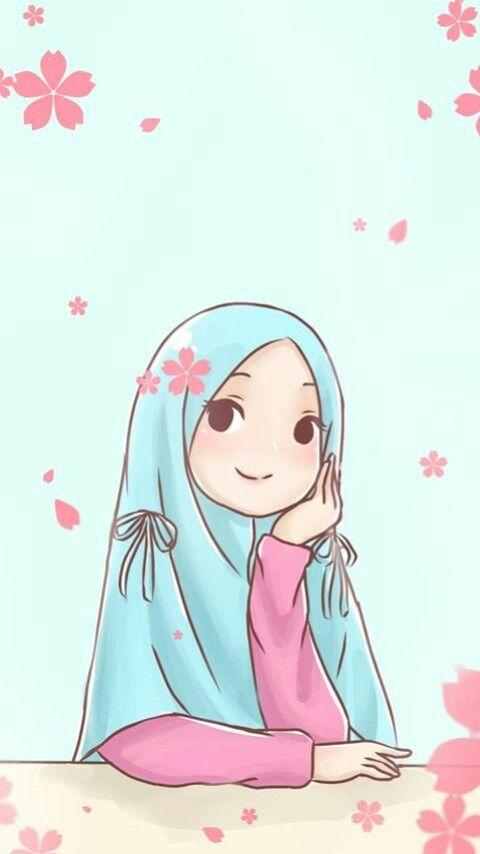 Be A Good Muslimah Ilustrasi Karakter Seni Islamis Seni Animasi