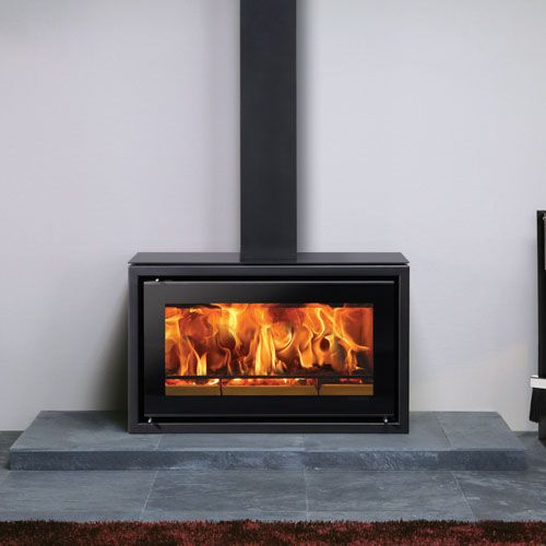 Freestanding Woodburner With Window Seats On Either Side Google
