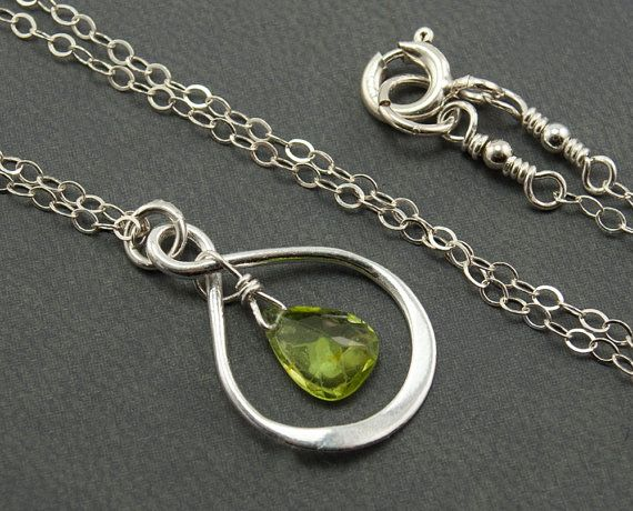 Hey, I found this really awesome Etsy listing at https://www.etsy.com/listing/219350962/green-peridot-necklace-sterling-silver