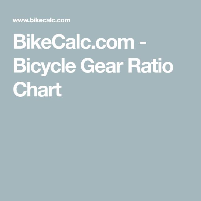 Bikecalc Com Bicycle Gear Ratio Chart Bicycle Gear