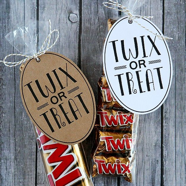 Twix or Treat Halloween Tag Halloween Pinterest Teacher, Minis - cute halloween gift ideas