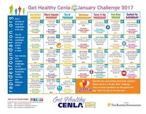 Kick off 2017 with our Challenge Calendar containing daily fitness and nutrition challenges! #GetHealthyCenla