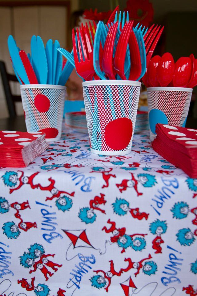 Dr Seuss First Birthday Party Feature Birthdays Twins and Babies