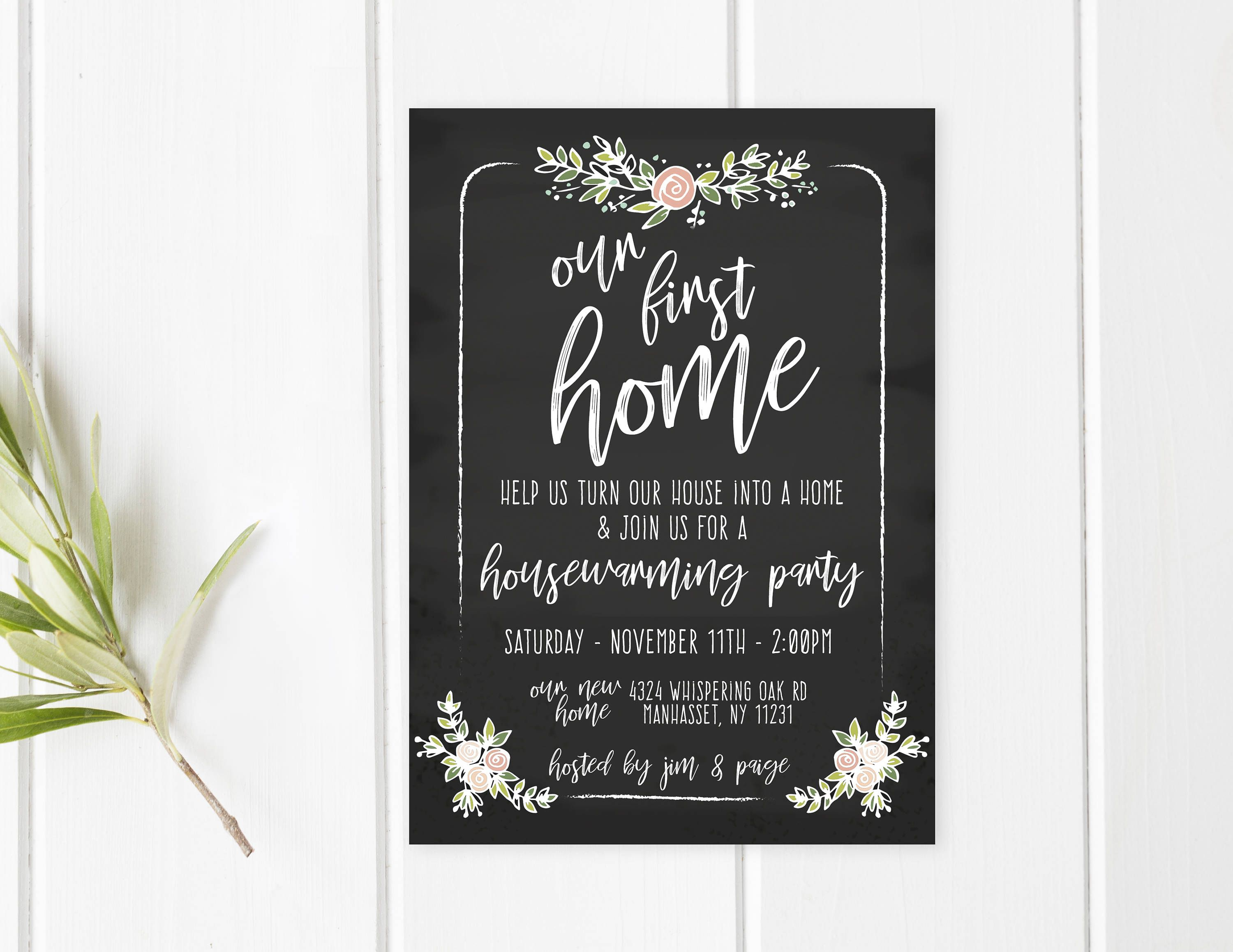 Housewarming Party Invitation, Housewarming Invitation ...