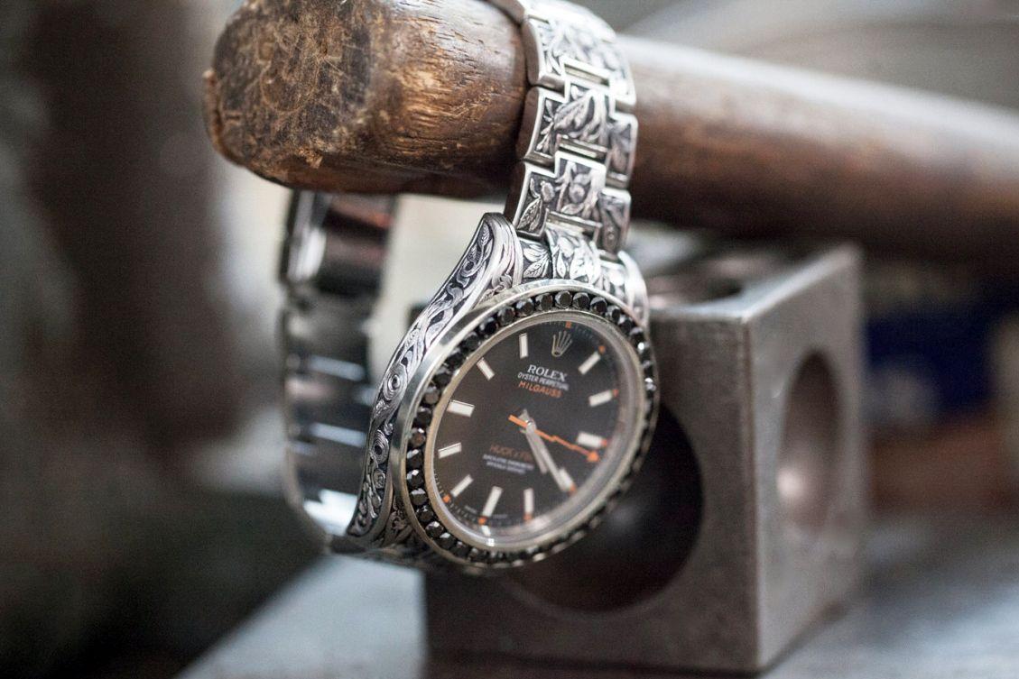 Fin Des Temps x Huckleberry LTD Custom Rolex Milgauss With Black