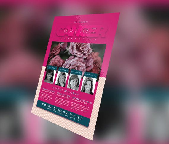 Breast Cancer Flyer Template By Seraphimcollective On Etsy The