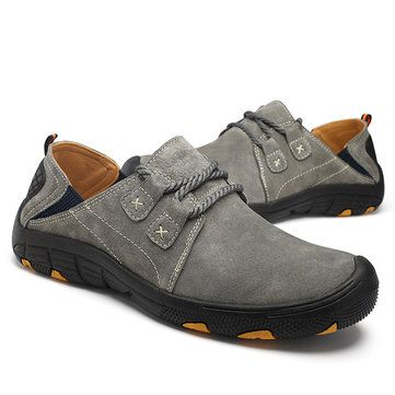 men outdoor casual leather sports shoes