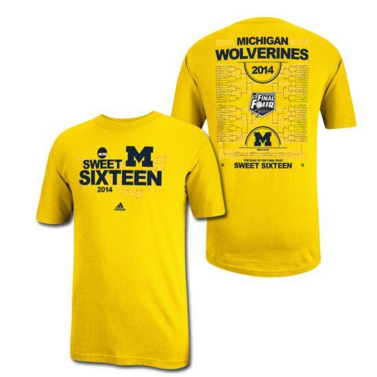 Adidas University Of Michigan Basketball Sweet 16 Yellow