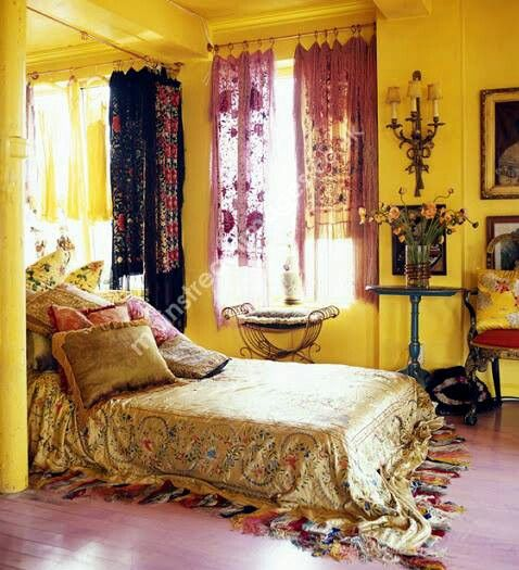 Bedroom Carpet Tiles Pink Bedroom Sets Bedroom Interior Decoration Bedroom Decorating Ideas Yellow: Boho/gypsy Bedroom I Just Love Yellow Bedrooms, So Devine