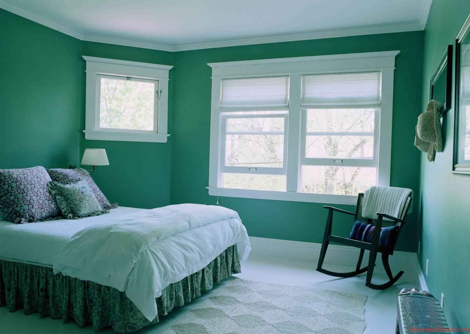 Green Bedroom Color Schemes the amazing persian green bedroom color scheme with white ceiling