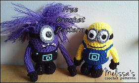 Minion and Evil Minion pattern by Melissa's Crochet Patterns #minionpattern Ravelry: Minion and Evil Minion pattern by Melissa's Crochet Patterns #minioncrochetpatterns