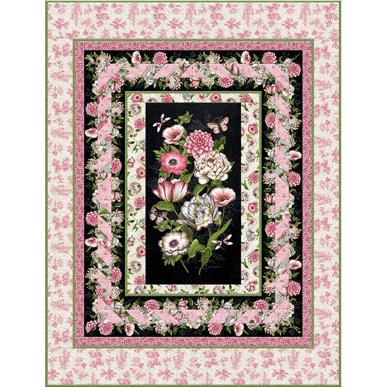 Wilmington Prints Tivoli Garden by Anne Rowan Twin Size Quilt Kit