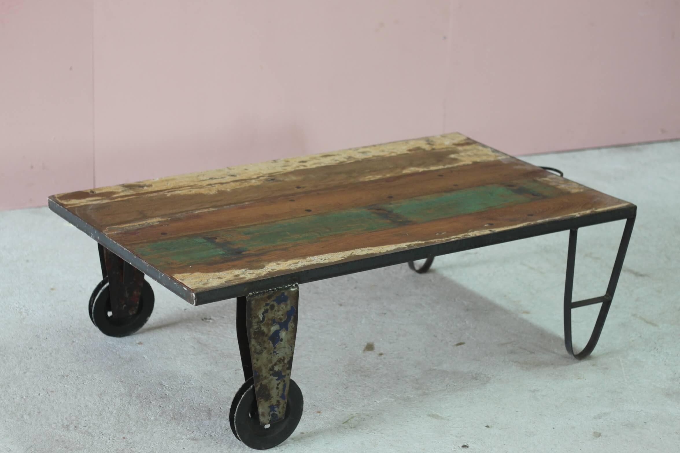 Salontafel scrapwood industrieel daan hout roo pinterest java