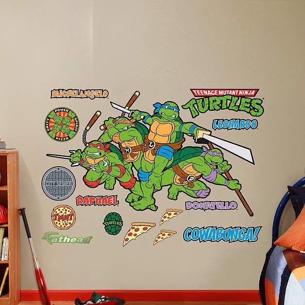Fathead Classic Teenage Mutant Ninja Turtles Decal Wall Sticker - Ninja turtle wall decals