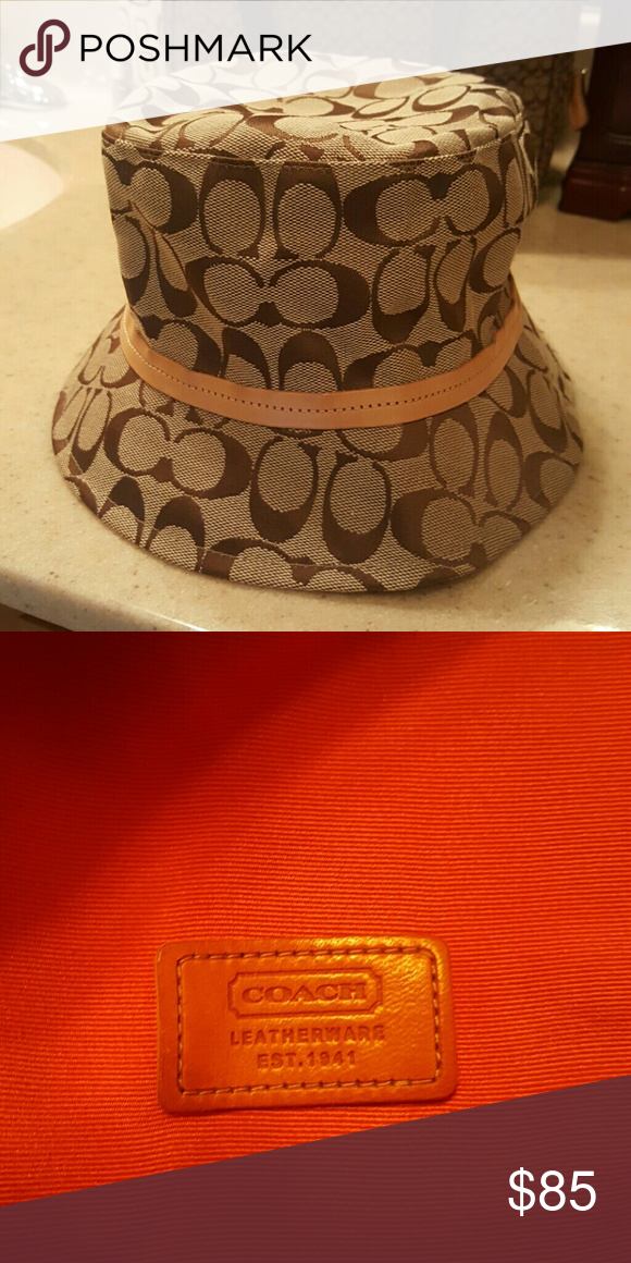 COACH BUCKET HAT EXCELLENT PRE LOVED CONDITION Coach Accessories Hats