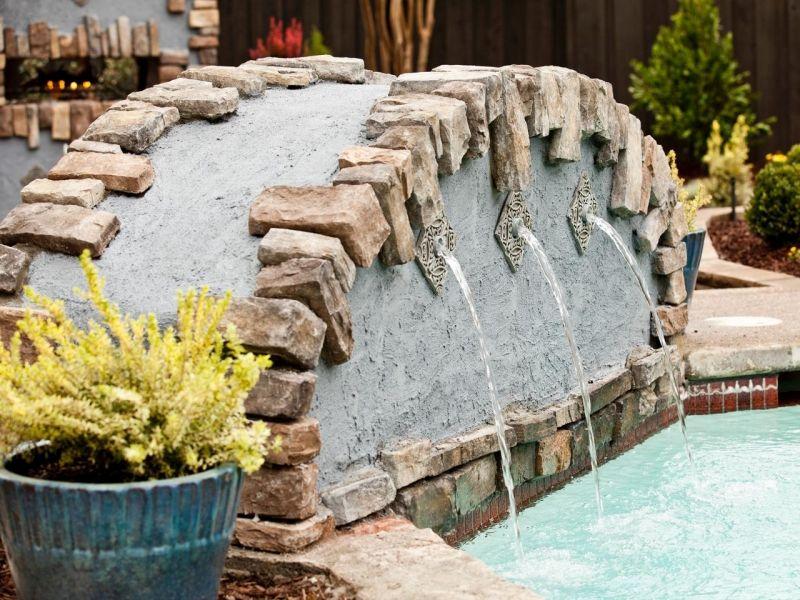 Brunnen und Wasserspiele im Garten selber bauen \u2013 70 Bilder und