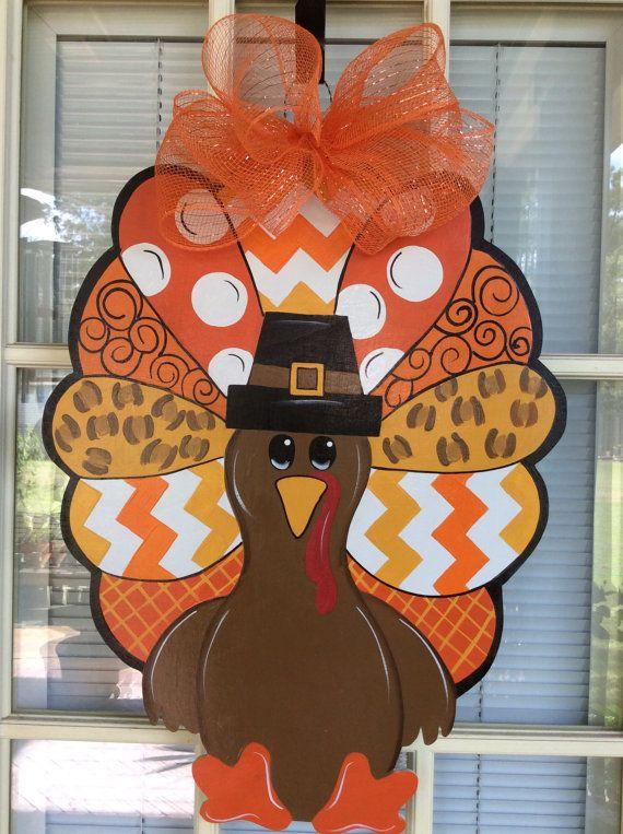 front door decor turkey decorations thanksgiving decorations