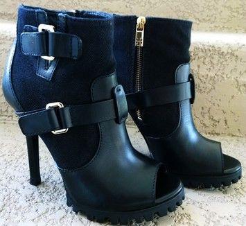 Tory Burch Oren Pee Toe Bootie Black Boots