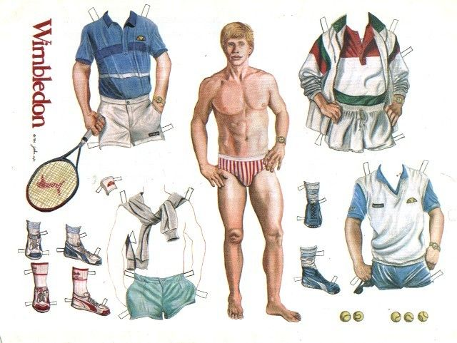 Vintage Male Paper Dolls