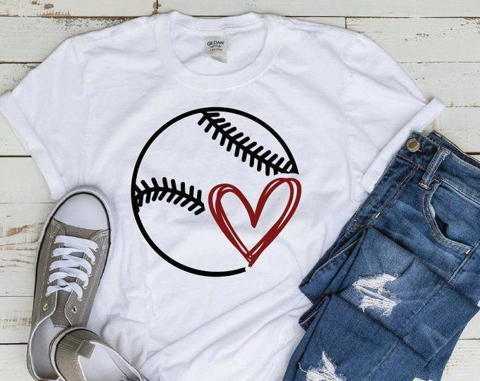 Photo of Baseball SVG Fastpitch Tshirt Dad Heart Mom Little League Kids svg dxf png cut file cricut htv silhouette tshirt vinyl clipart Softball