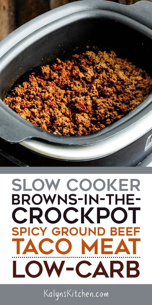 Slow Cooker Taco Meat Kalyn S Kitchen Recipe Ground Beef Tacos Slow Cooker Ground Beef Slow Cooker Tacos