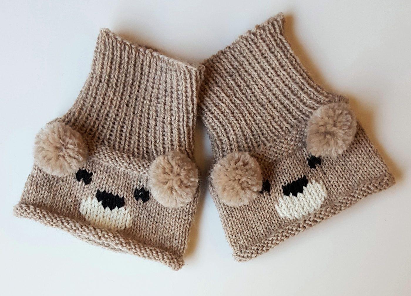 Free Knitting Pattern for Teddy Bear Boot Toppers | Rękawiczki ...