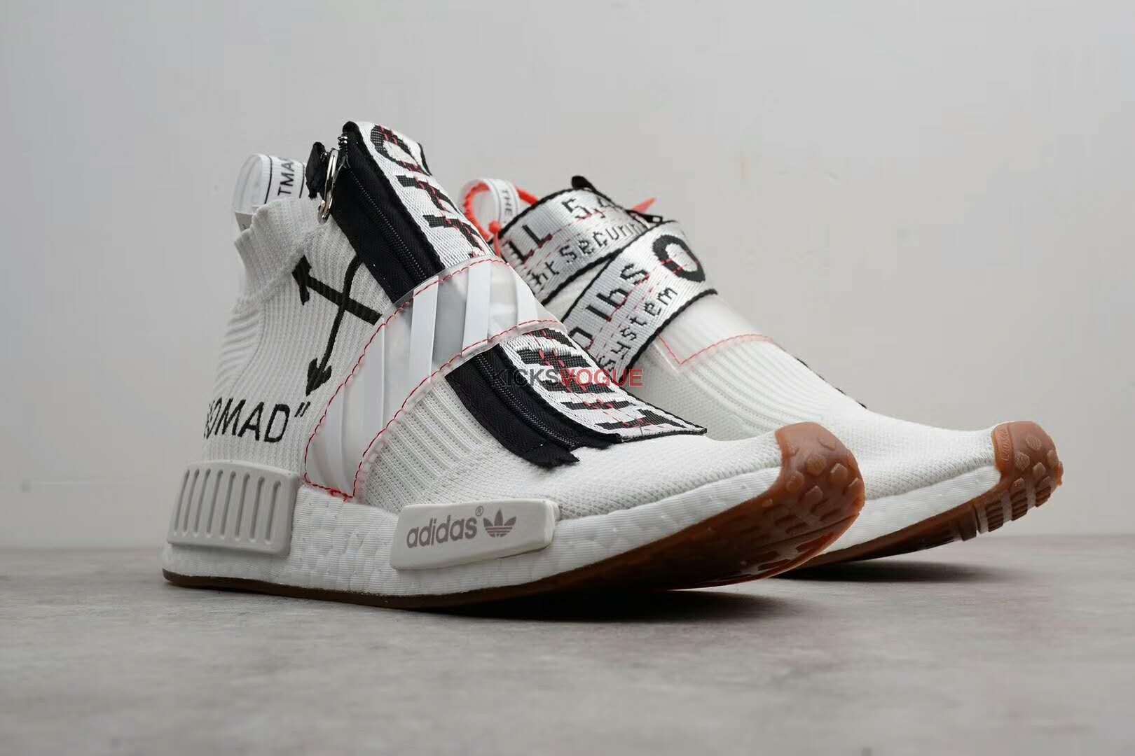 off white x adidas originals nmd city sock customs kicks vogue