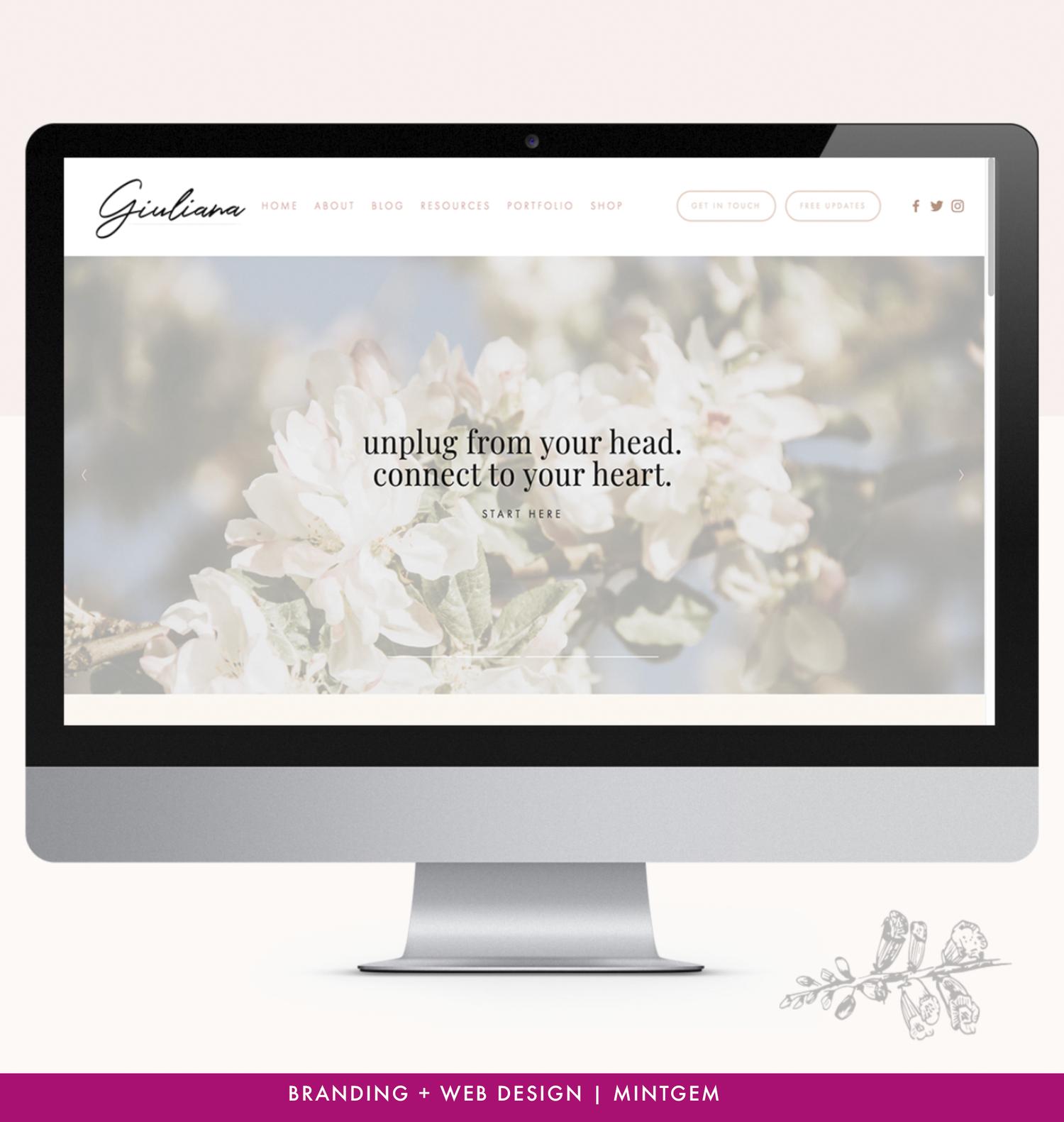 Branding Logo And Squarespace Website Design For Spiritual Entrepreneurs Women In Business Squarespace Website Design Branding Website Design Website Design